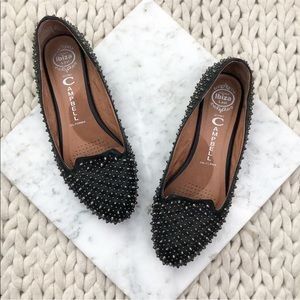 Jeffrey Campbell Studded Black Loafers Flats